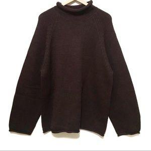 J. Crew   Dark Brown Wool Sweater
